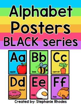 Rainbow Bright Alphabet Posters Black Series