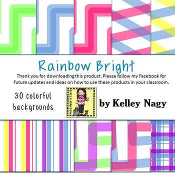 Rainbow Bright Digital Paper