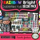 Rainbow Bright Chalkboard Kids Decor Pack