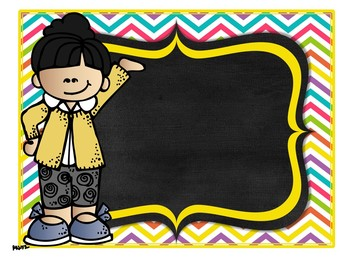 Rainbow Bright Chalkboard Kids EDITABLE Add On Pack