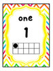 Rainbow Bright Chevron Number Posters and Cards: 0-20, Eve