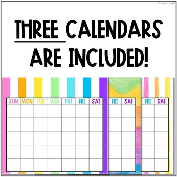 Rainbow Bright Classroom Calendar Bulletin Board Kit