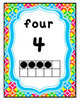 Rainbow Bright Crazy Circles Number Posters and Cards: 0-2