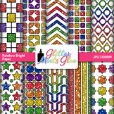 Rainbow Bright Paper {Scrapbook Backgrounds for Task Cards