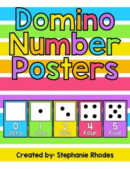 Rainbow Bright Domino Number Posters