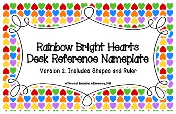 Rainbow Bright Hearts Desk Reference Nameplates Version 2