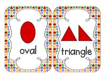 Rainbow Bright Hearts Shape Cards