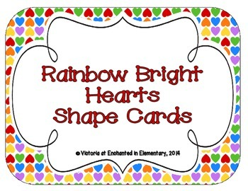Rainbow Bright Hearts Shape Cards