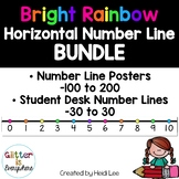 Number Line Poster BUNDLE - Rainbow Bright (Horizontal)