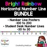Number Line Poster BUNDLE - Rainbow Bright (Horizontal)