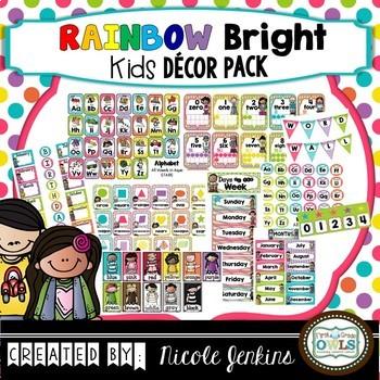Rainbow Bright Kids Decor Pack (No Chalkboard)