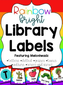 Rainbow Library Labels feat. Melonheadz with corresponding stickers
