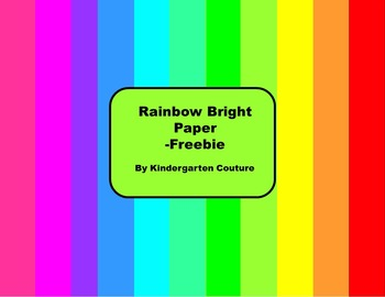 Rainbow Bright Paper -Freebie