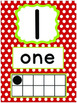 Rainbow Bright Polka Dot Number Posters