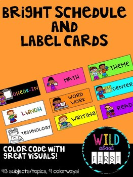 Rainbow Bright Schedule and Label Cards