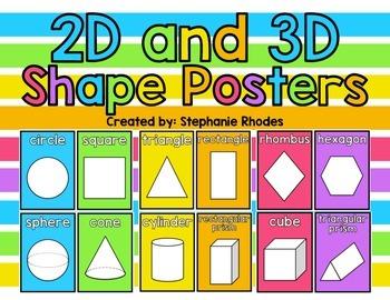 Rainbow Bright Shape Posters