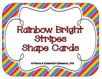 Rainbow Bright Stripes Shape Cards