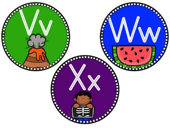 Word Wall Headers: Round, Rainbow, & Bright!