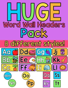 Rainbow Bright Word Wall Headers PACK!