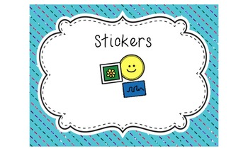 Rainbow Bright it Up! (Labels for an effectively organized classroom)