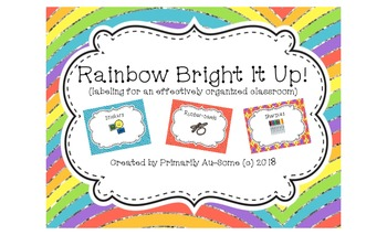 Rainbow Bright it Up! (Labels for an effectively organized