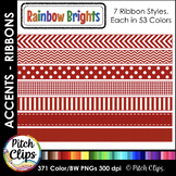 266 Digital Ribbons - Clipart (Clip Art) Stitched, Chevron