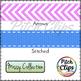 266 Digital Ribbons - Clipart (Clip Art) Stitched, Chevron