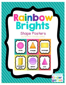 Rainbow Brights 2D and 3D Shape Posters