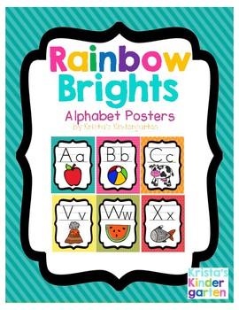 Rainbow Brights Alphabet Posters