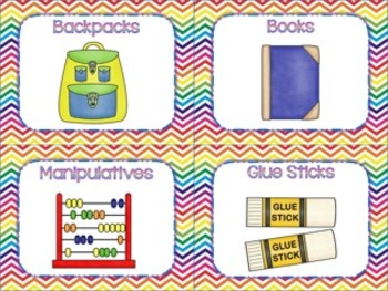 Rainbow Brights Chevron Classroom Decor