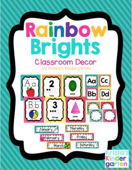 Rainbow Brights Classroom Decor Bundle
