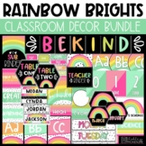 Rainbow Brights Classroom Decor  - Editable!