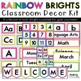Rainbow Brights - Colorful Classroom Basics Decor Kit