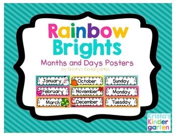 Rainbow Brights Days of the Week and Months of the Year