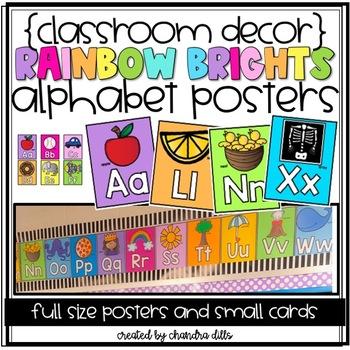 Rainbow Brights Decor- Alphabet Posters