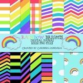 Rainbow Brights Digital Backgrounds