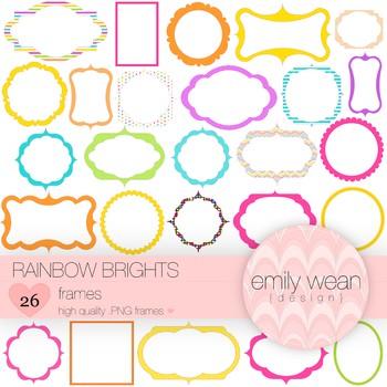 Rainbow Brights - Digital Frames