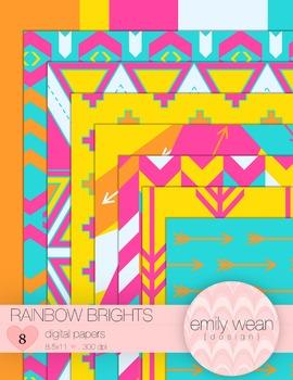 Rainbow Brights - Digital Papers