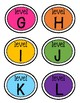 Rainbow Brights Leveled Library Labels