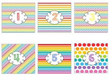 Rainbow Brights Numbers