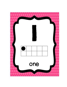 Rainbow Brights Numbers Posters 0-20