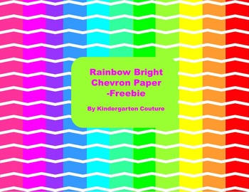 Rainbow Brights Chevron Paper -Freebie