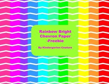 Rainbow Brights Chevron Paper -Freebie