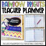 {Rainbow Brights} Teacher Planner