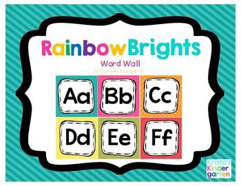 Rainbow Brights Word Wall