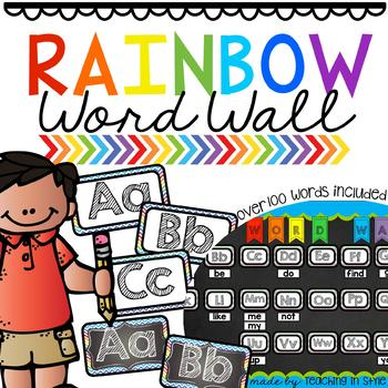 Rainbow Word Wall Set *EDITABLE