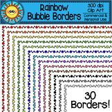 Rainbow Bubble Borders Clip Art