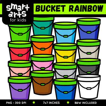 Rainbow Bucket Clip Art