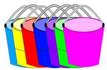 Rainbow Bucket Clipart