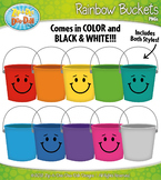 Rainbow Counting Buckets Clipart {Zip-A-Dee-Doo-Dah Designs}